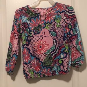 Lily Pulitzer Mini popover Girl's Top